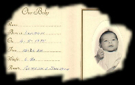Our Baby Card - Click to enlarge